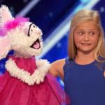12歳の金髪美少女ダルシーちゃんが腹話術で圧巻の歌声を披露